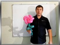 Роза из шариков ШДМ