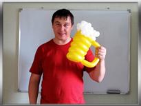Пивная кружка из шаров