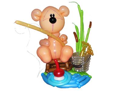 Медвеженок из шаров